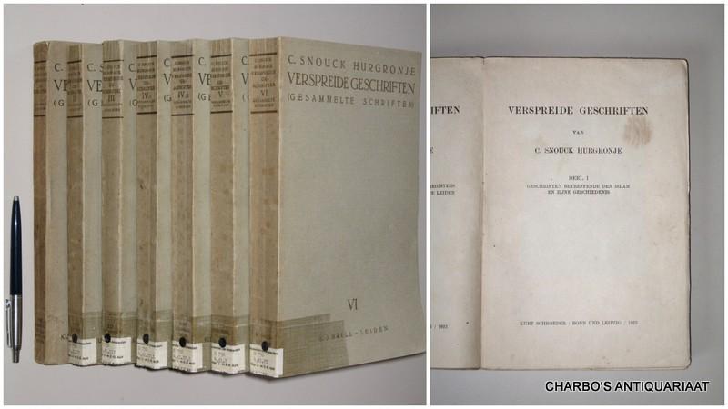 SNOUCK HURGRONJE, C., -  Verspreide geschriften (Gesammelte Schriften).