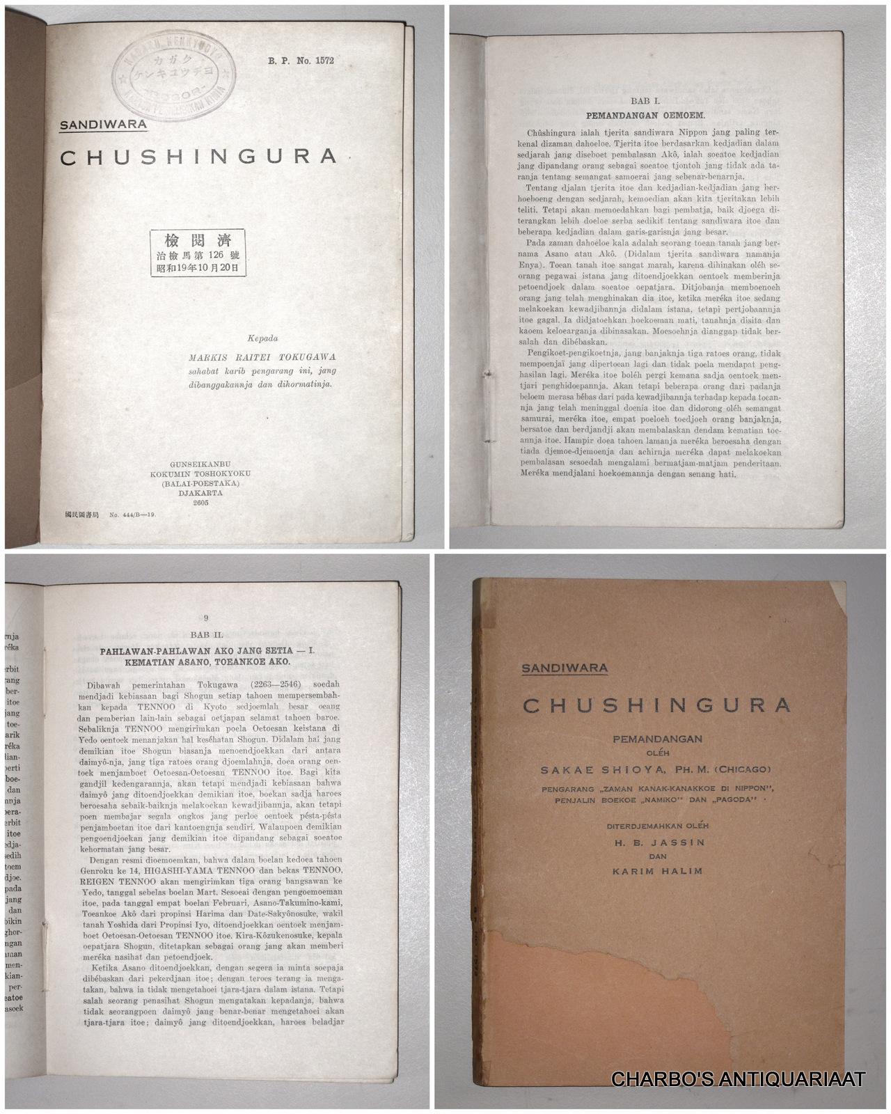 SHIOYA, SAKAE (ET AL), -  Sandiwara Chsingura.