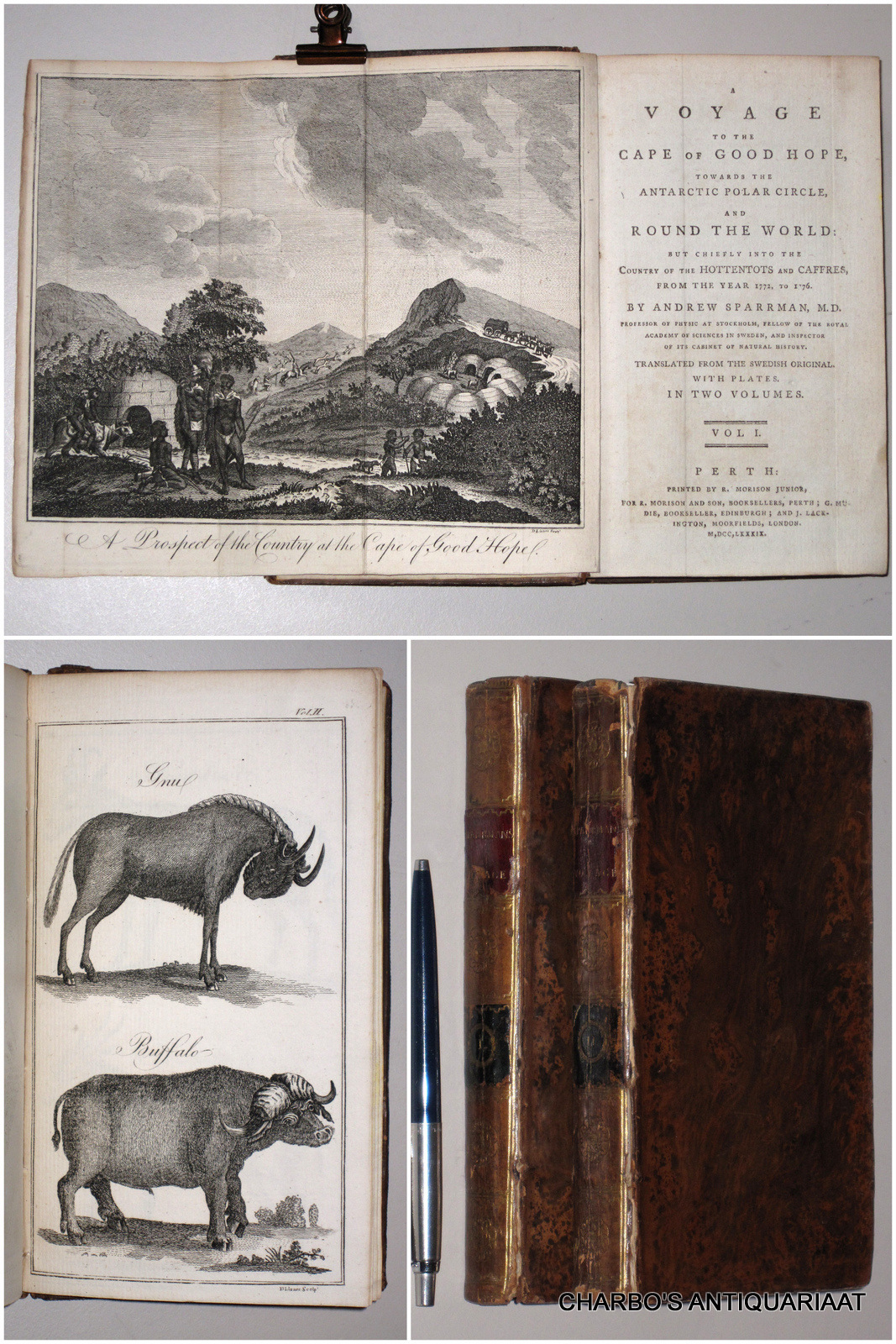SPARRMAN,ANDREW, -  A voyage to the Cape of Good Hope, towards the Antarctic Polar Circle, and around the world., but chiefly into the country of the Hottentots and Caffres, from the year 1772, to 1776. Translated from the Swedish original.