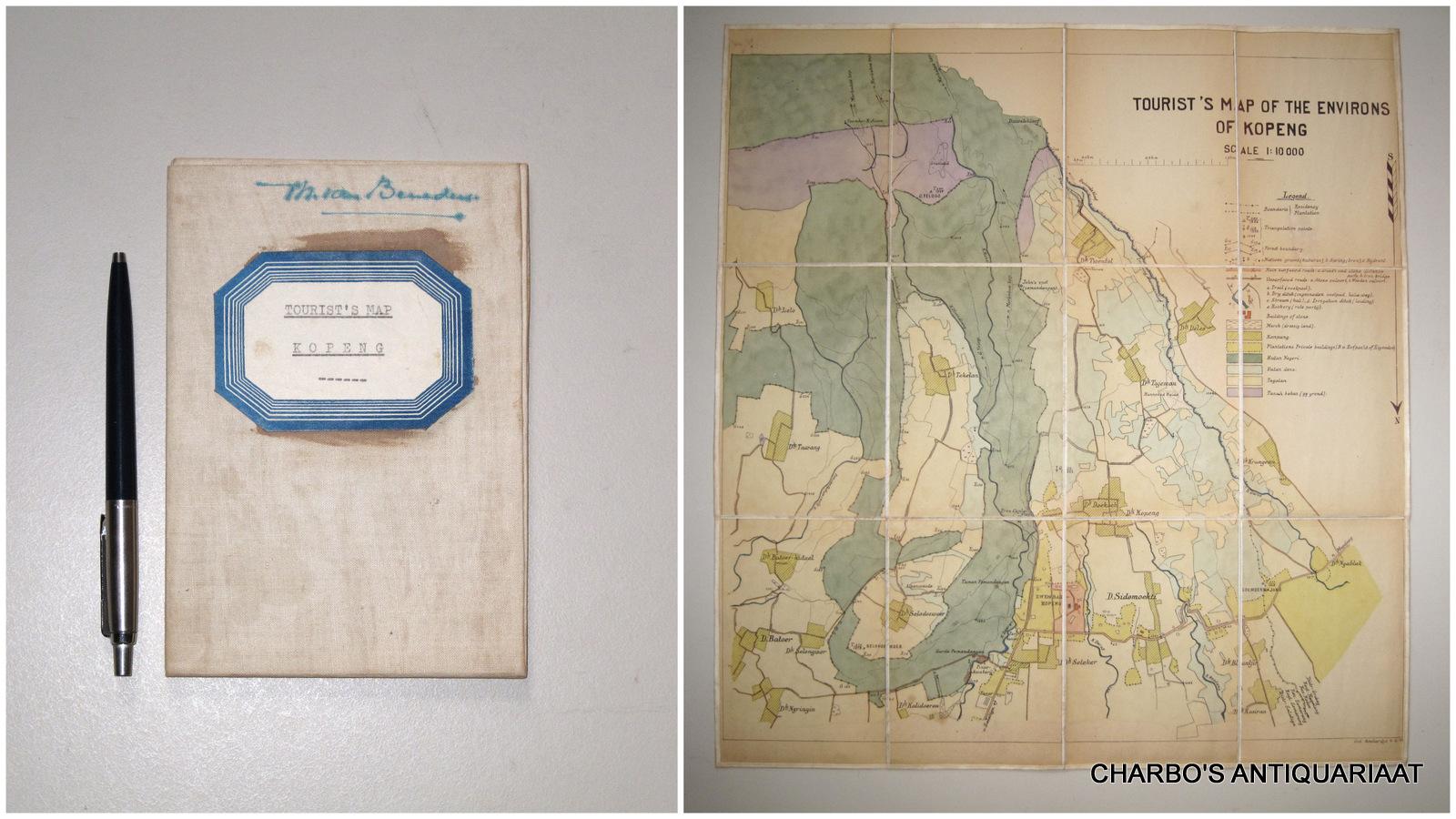 SOETARDJO, -  Tourist's map of the environs of Kopeng. Scale 1:10000.